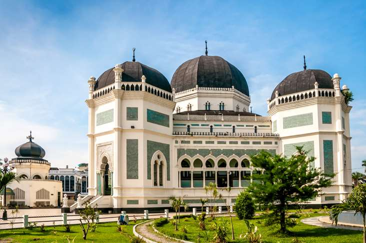 Indonesia North Sumatra Medan Grand Mosque